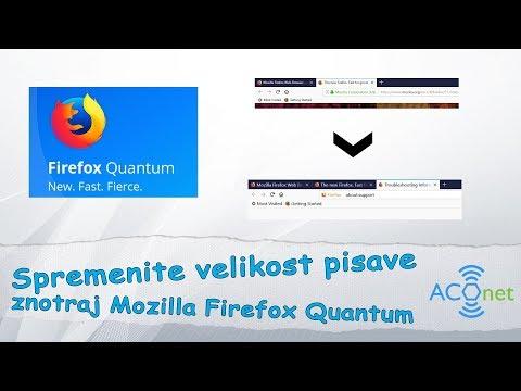 Kako spremeniti velikost pisave v Firefox Quantum spletnem brskalniku?