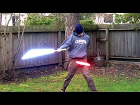 Lightsaber Battle Training - Done with After Effects