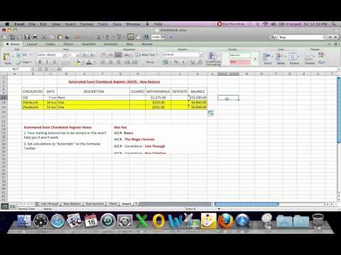 Automated Excel Checkbook Register New Balance