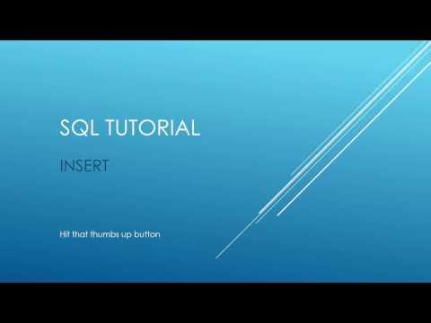 SQL Tutorial - INSERT