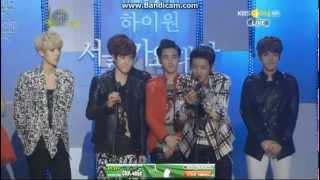 130131 Kbs High1 Seoul Music Awards- Exo-k Win Rookie Award!!