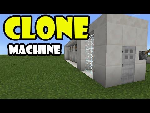 CLONE MACHINE TUTORIAL | Minecraft PE Redstone Creation