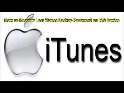How to Recover Lost iTunes Backup Password on IOS Device