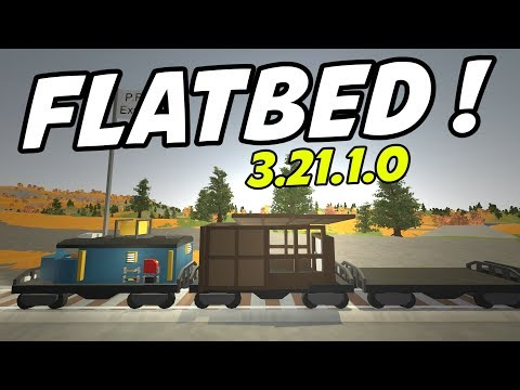 Unturned Update - FLATBED TRAIN CARS!! Building a Base on a Train! (Update 3.21.1.0)