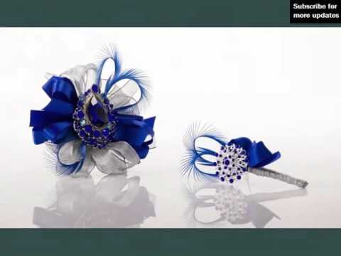 Corsage Light Blue And Silver Picture Ideas For Wedding | Blue And Silver Romance