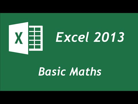 Excel  - Basic Maths Functions Tutorial