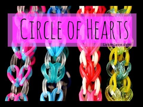 How to Make the Rainbow Loom Circle of Hearts Bracelet EASY