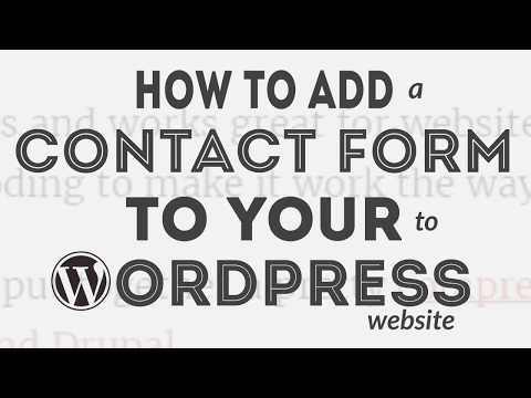 How to Add Contact Form on WordPress