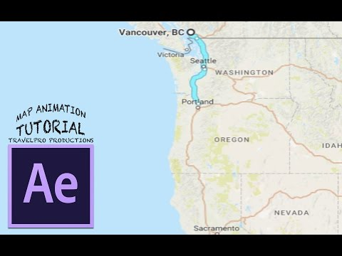How to Animate Maps - After Effects Tutorial