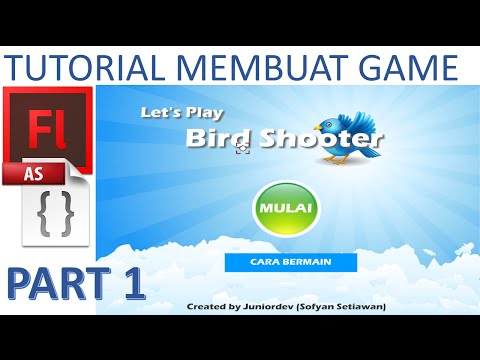 Membuat Game Flash - Tembak Burung / Bird Shooter (PART 1/4) dengan Actionscript 2
