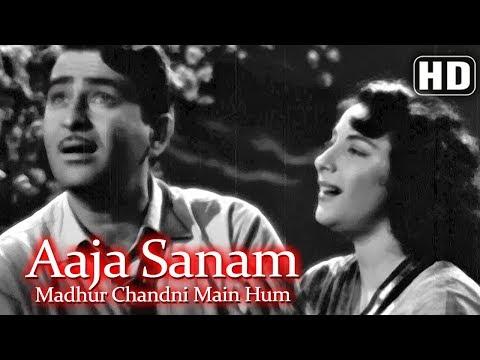 Aaja Sanam Madhur Chandni (HD) -  Chori Chori (1956) - Nargis - Raj Kapoor - Best of 50's Song