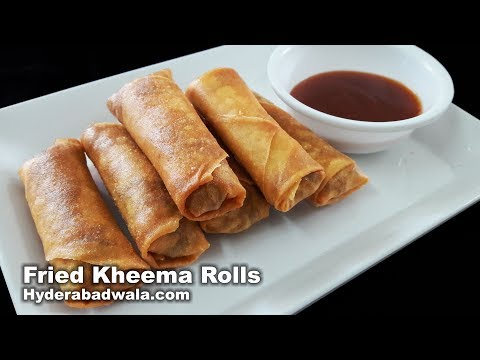 Fried Kheema Rolls Recipe Video - How to Make Fried Minced Mutton Rolls -  Easy, Quick & Simple