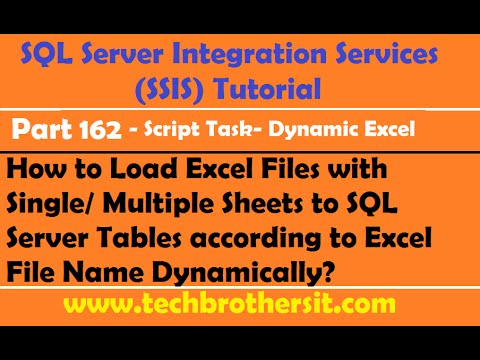 Load Excel Files with Single or Multiple Sheets to SQL Tables according to Excel File Name in SSIS