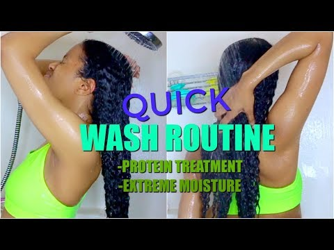 Quick Wash Day Routine for DRY + DAMAGED Natural Hair (Start to Finish)|Moisturized