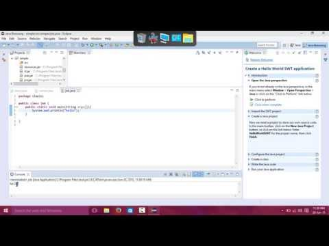 How to run java programs using eclipse