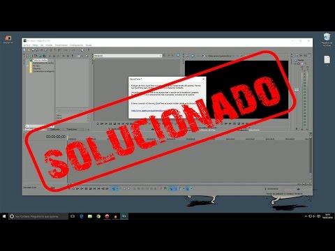Solucionar error al agregar archivos .mov, falta plugin Quicktime en Sony vegas