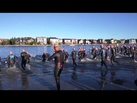 Ironman Calgary 70.3 Orange Swim Start