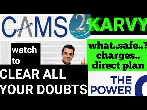 what is Cams and karvy | safe..? charges..? how to open account..? RTA- clear DOUBTS..Hindi details