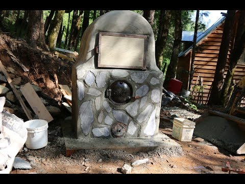 Building a wood fired pizza and bread oven