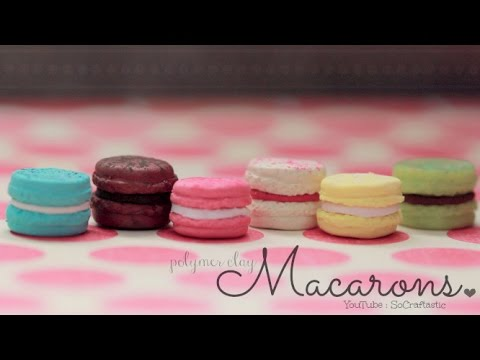 FRENCH MACARONS - Polymer Clay Charm - How To | SoCraftastic