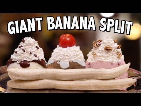 DIY GIANT BANANA SPLIT - VERSUS