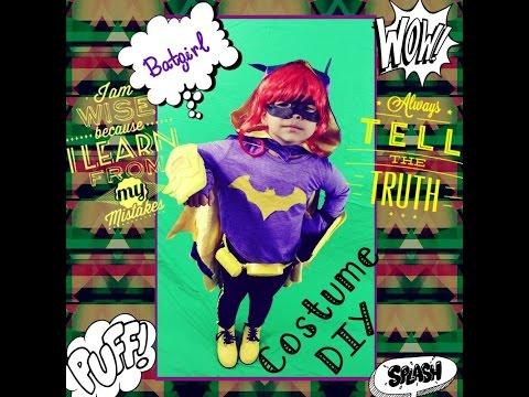 HOW TO MAKE Batgirl Costume DIY dc superhero girls