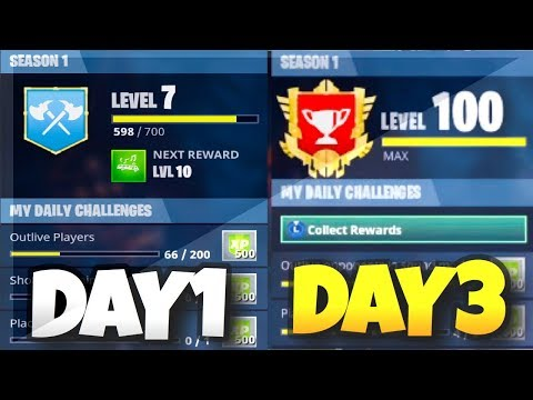 How to Get TIER 100 on FORTNITE in ONE DAY! (Fortnite Battle Royale) *MUST WATCH*