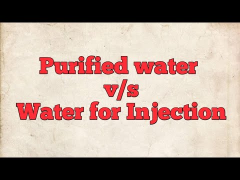 What are the difference between purified water(PW)  and Water for injection (WFI)?