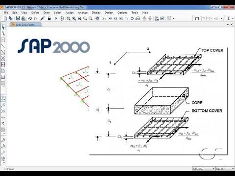 SAP2000 - 34 Concrete Shell Reinforcement Design: Watch & Learn