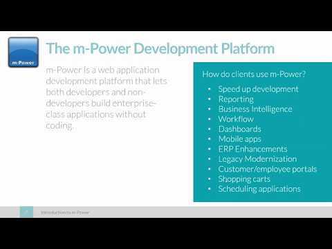 Introduction to the m-Power Development Platform