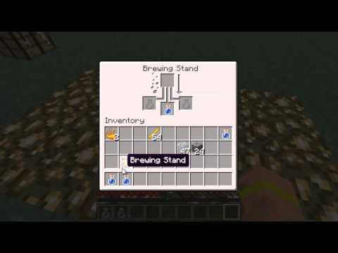 Minecraft: How to Craft - Brewing Stand and Glass Bottles!