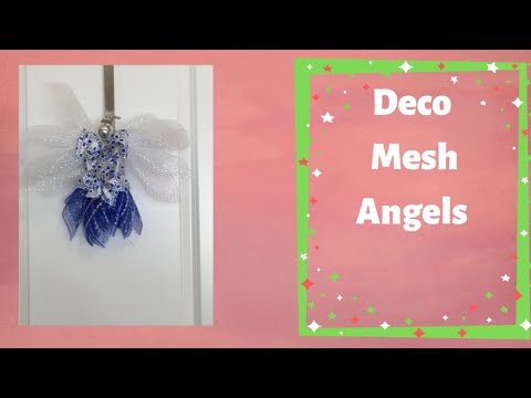 How to make a deco mesh Christmas Angel fun and quick project