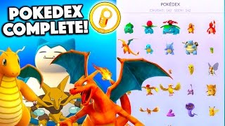 COMPLETING THE POKEDEX! Pokemon Go Pokedex is Finally FINISHED! Onto Gen 2!