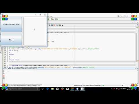 DIALOG BOX TUTORIALS IN JAVA WITH NETBEANS IDE