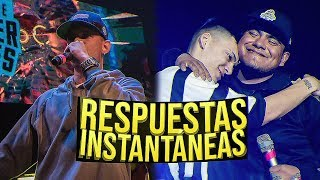 Las RESPUESTAS más RÁPIDAS💨🚀| CONTESTACIONES INSTANTÁNEAS en Batallas de rap!