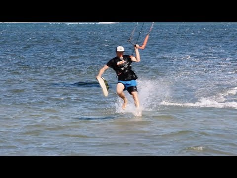 Walk on Water Kitesurfing. Learning how Part One