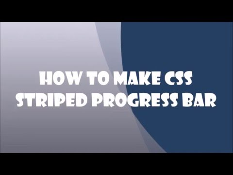 How To Make CSS Striped Progress Bar