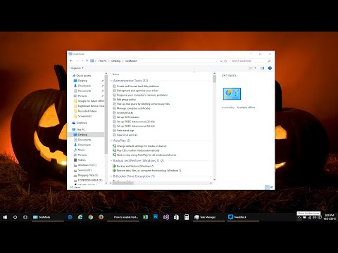 Windows 10: How to enable God Mode to access all system Settings at one place