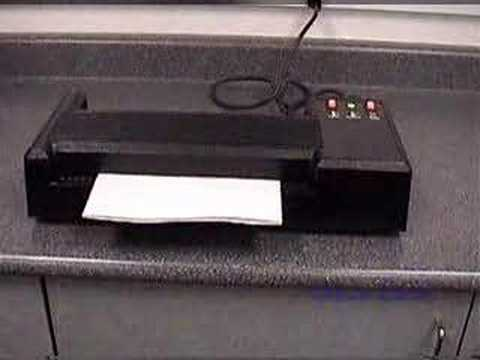 PL-12A Pouch Laminator Demo from Office Zone