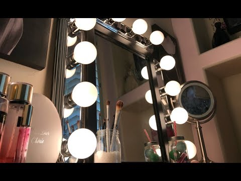 DIY VANITY MIRROR WITH LIGHTS FOR $25!!
