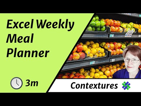 Get Organized with Excel Weekly Meal Planner