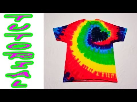 DIY Tie Dye Rainbow Spiral Heart Shirt [Tutorial] #18