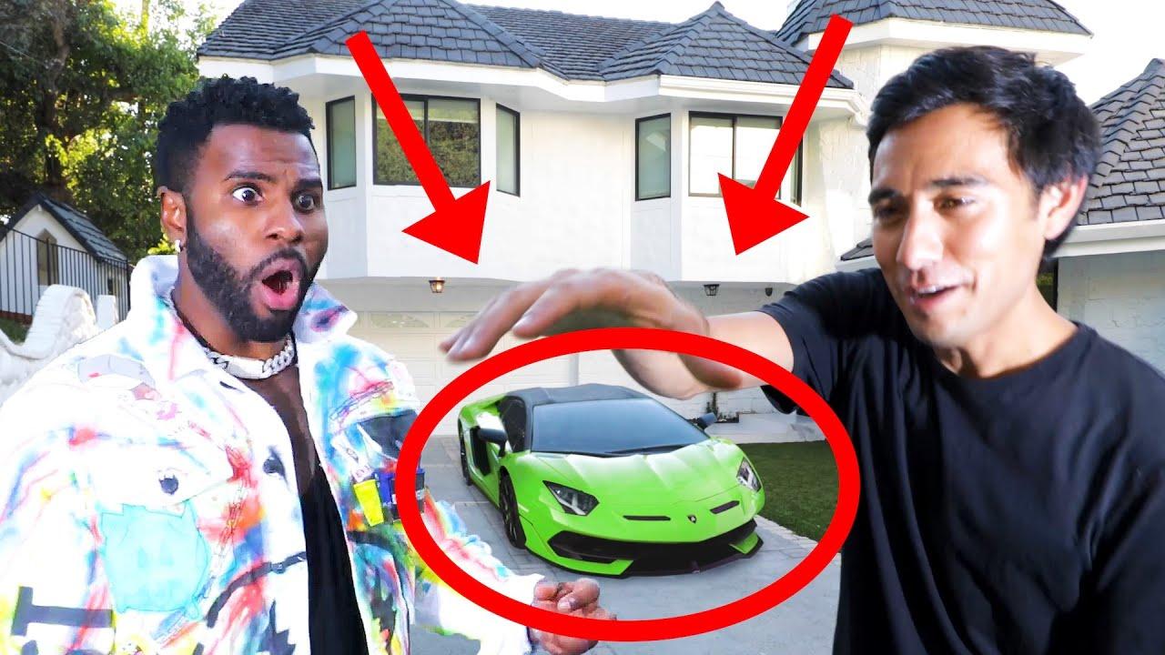 I broke Jason Derulo's Lamborghini | Magic with Celebrities