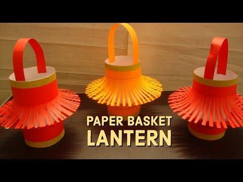 Paper Basket Lantern For Christmas Decorations!