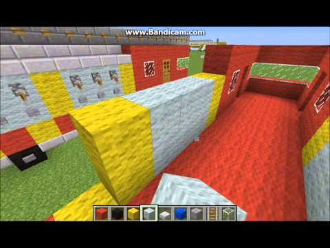 Minecraft Tutorial Of How To Build a Fire Engine