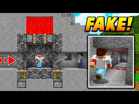 INVISIBLE FAKE BEDROCK TRAP! - Minecraft SKYWARS TROLLING (UNBREAKABLE!)