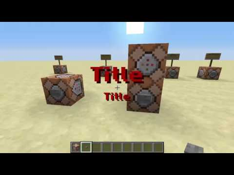 Minecraft Command Block Tutorial #4 | Title, Subtitle, Tellraw and Say