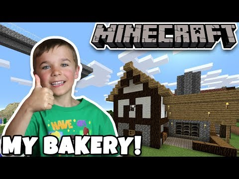 BUILDING MY BAKERY HOUSE in MINECRAFT SURVIVAL MODE
