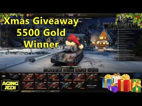 12 Days of Xmas - 5500 Gold Winner - World of Tanks