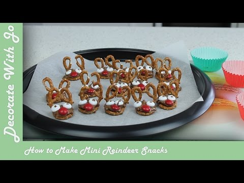 How to Make Mini Reindeer Snacks | Decorate With Jo